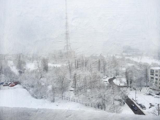 Bogdan Grigore - Peisaje - iarna la lujerului